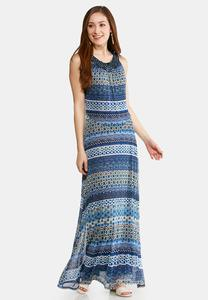 Plus Size Sleeveless Embellished Maxi Dress