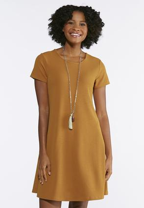 Crepe Jersey Swing Dress