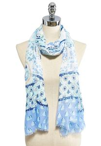 Paisley Watercolor Oblong Scarf