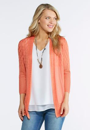 Plus Size Multi Stitch Cardigan Sweater