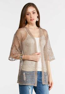 Sheer Crochet Cardigan Top