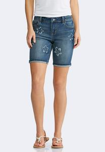 Star Denim Bermuda Shorts