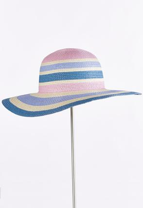 Striped Straw Floppy Hat