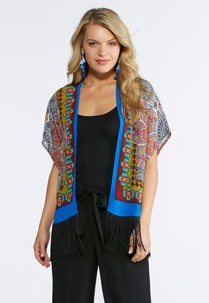 Global Fringe Kimono | Tuggl