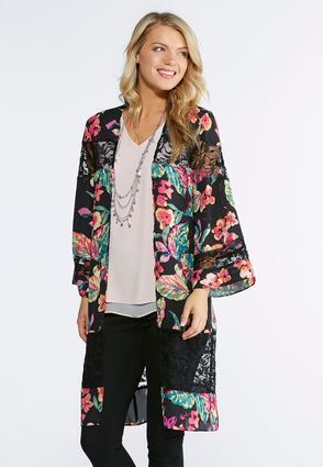 Plus Size Rio Floral Kimono | Tuggl