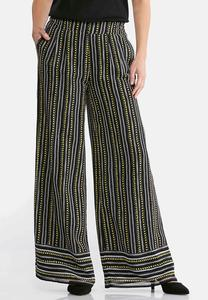 Petite Dashes And Dots Palazzo Pants
