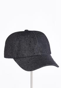 Rhinestone Denim Baseball Cap
