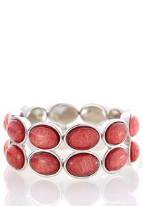 Double Row Colored Stretch Bracelet