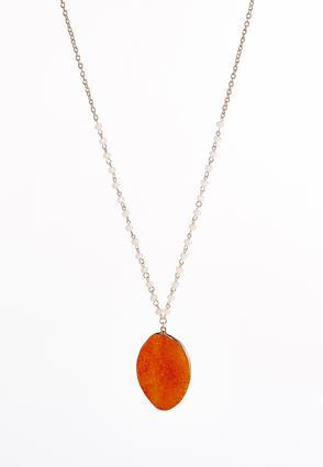 Bright Melon Pendant Necklace | Tuggl