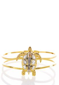 Jeweled Turtle Cuff Bracelet