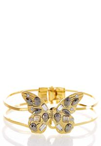 Jeweled Butterfly Cuff Bracelet