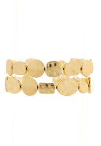 Hammered Gold Bracelet Set