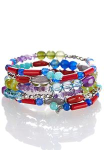 Coiled Mixed Bead Bracelet