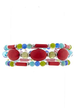 Colorful Mixed Bead Bracelet Set | Tuggl