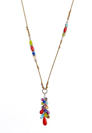 Cluster Bead Cord Necklace
