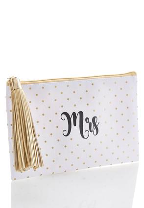 Mrs Polka Dot Zip Pouch | Tuggl
