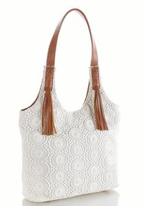 Crochet Hobo Handbag