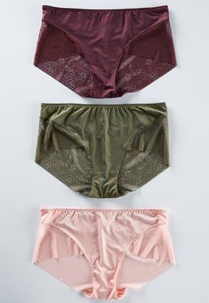 Plus Size Autumn Lace Panty Set | Tuggl