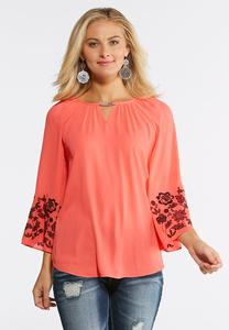 Hardware Embellished Poet Top