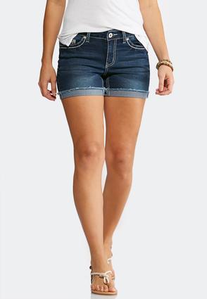 Frayed Denim Shorts | Tuggl