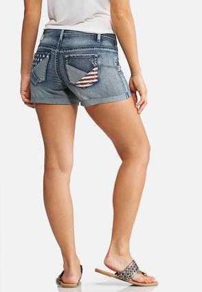 Stars And Stripes Denim Shorts