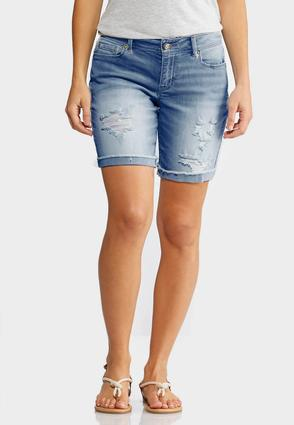 Distressed Jean Shorts | Tuggl
