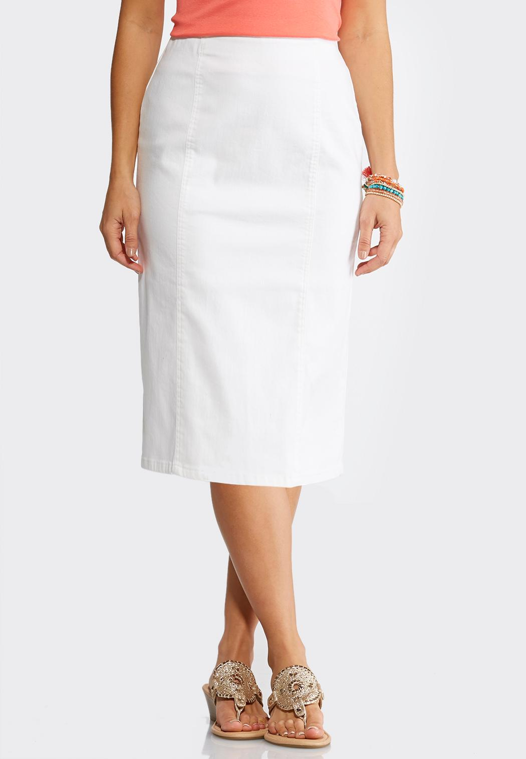 Plus Size White PullOn Pencil Skirt Skirts Cato Fashions - What is invoice payment plus size online stores