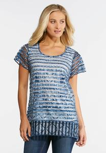 Aztec Shadow Stripe Top