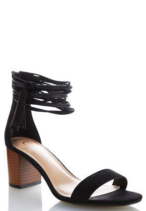 Wide Width Multi Strap Heeled Sandals   Tuggl