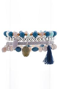 Blue Mixed Bracelet Set