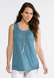 Tie Dye Side Knit Tank
