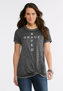 Plus Size Grace Saved Knotted Tee