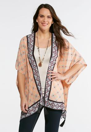 Tasseled Geo Kimono | Tuggl
