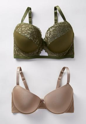Plus Size Natural Hue Bra Set at Cato in Brooklyn, NY | Tuggl
