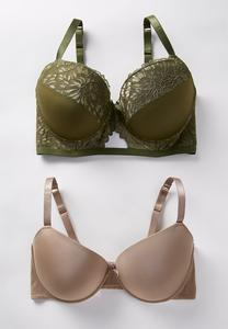 Plus Size Natural Hue Bra Set