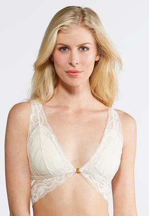 Neutral Allover Solid Lace Bra   Tuggl