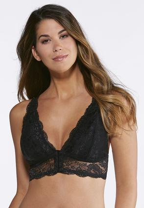 Plus Size Allover Solid Lace Bra