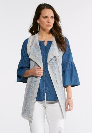 Textured Stripe Vest | Tuggl