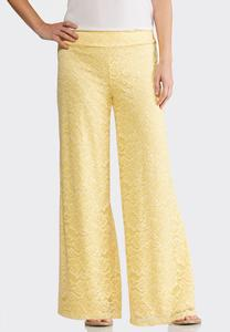 Allover Lace Palazzo Pants