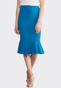 Stretch Flounced Skirt