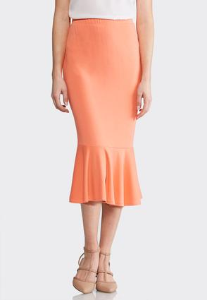 Plus Size Stretch Flounced Skirt at Cato in Mcminnville, TN | Tuggl