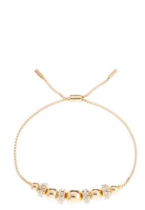 Bead Rhinestone Cord Bracelet | Tuggl