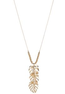 Cluster Leaf Pendant Necklace