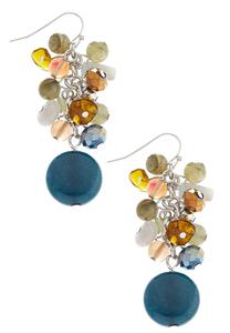 Semi-Precious Cluster Earrings
