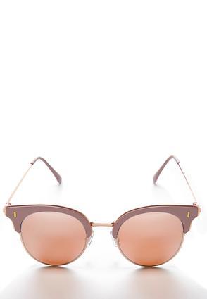 Rose Gold Round Sunglasses | Tuggl