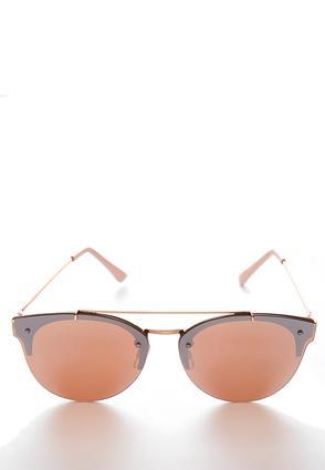 Rose Gold Flat Lens Sunglasses | Tuggl