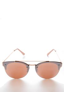 Rose Gold Flat Lens Sunglasses