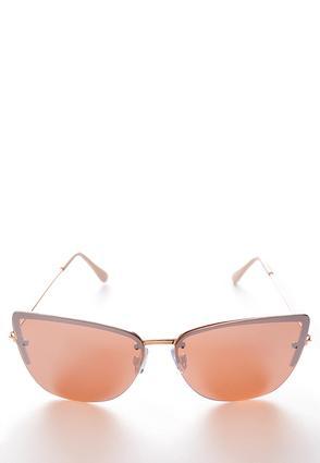Rose Gold Mod Sunglasses | Tuggl