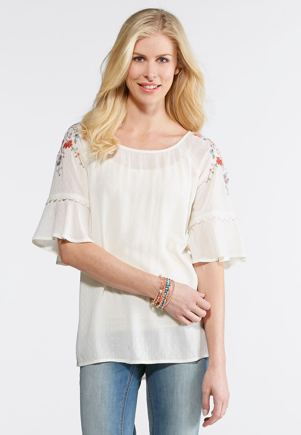 Women's Shirts & Tops Lucky Brand Misty Rose Plus Size Embroidered Boho  Blouse piTeSj
