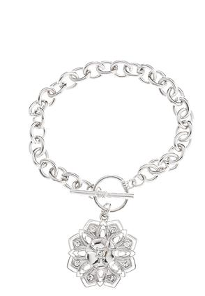 Flower Toggle Chain Bracelet